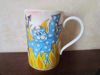 Dunoon Mug 'Cat in a hells chance' Designed By Jane Brookshaw