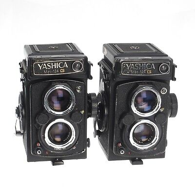 Lot Of Two (2) Yashica Mat-124 G Medium Format 120 Film TLR Film Cameras AS-IS