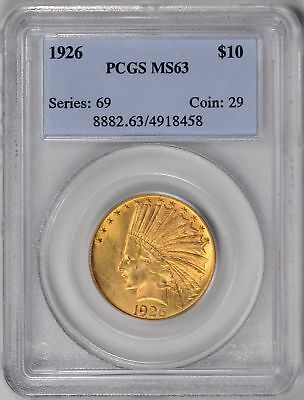 1926  $10 Gold Indian  PCGS  MS63  *  #4918458