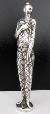 Rare Antique Silver Figural Asian Warrior Vesta Case 'go To Bed' Match Safe