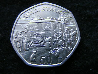 Isle of Man Christmas 50p 1987 THORNEYCROFT BUS