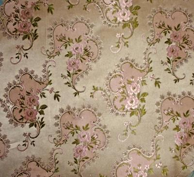 BEAUTIFUL 19th CENTURY FRENCH SILK BROCADE, LYON, PROJECTS, REF