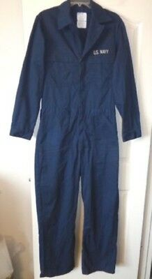 Us Navy Military Marine Corps Issue Blue Mechanic Utility Coveralls Usn