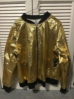 Ladies New Black And Gold Zip Up Xersion Bright Jacket New Never Worn Xl