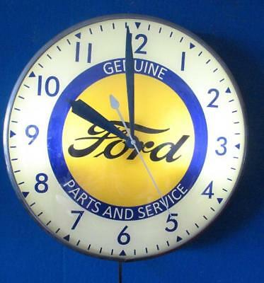 Vintage Pam Lighted Advertising GENUINE FORD PARTS & SERVICE Clock