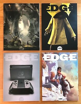 Edge Magazine Issues 301 302 303 305 Unread Subscriber Covers Retro Gamer Games
