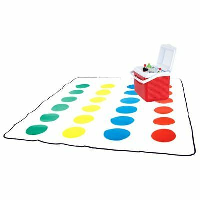 Official Retro Twister Game Picnic Blanket - With Spinner
