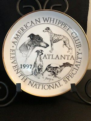 1997 American Whippet Club Porcelain Collector Plate Eleventh National Specialty