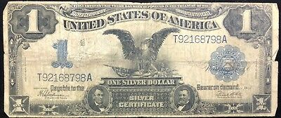 1899 $1 One Dollar Black Eagle Silver Certificate Note