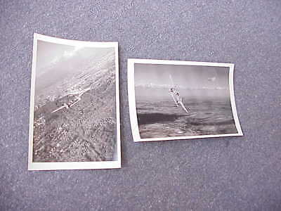 Lot of 2 ORIGINAL WWII P-38 Lightning Recon Aircraft Photo German or France