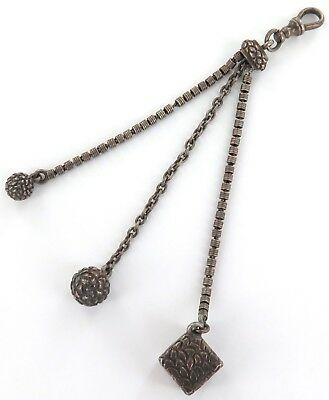 Superb / Antique / Sterling Silver Chatelaine / Fob.