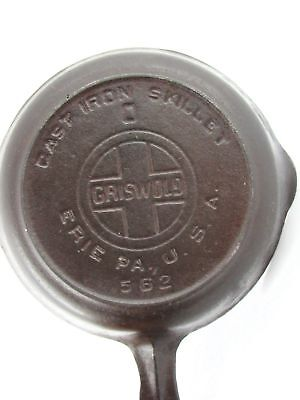 Antique Griswold Cast Iron 562 Toy Miniature 0 Heat Ring Skillet