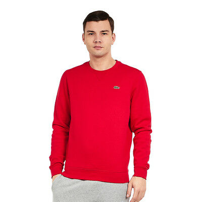 Lacoste - Brushed Fleece Sweater Red Pullover Rundhals