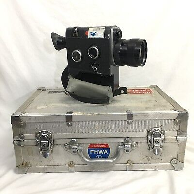 VTG CANON SCOOPIC 16mm FILM MOVIE CAMERA w 13-76mm f1.6 ZOOM LENS & CASE video