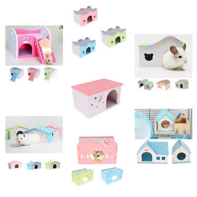 Toy Hamster House Bedroom Dwarf Cage Rat Mouse Gerbil Small Pet Exercise Natural