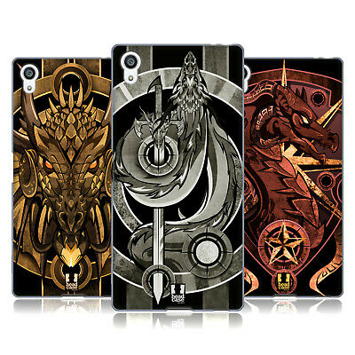 Head Case Designs Medieval Dragon Emblems Soft Gel Case For Sony Phones 2