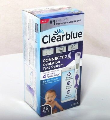 Clearblue Connected Ovulation Fertility Tester Bluetooth Smartphone Link 25 Test