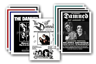 THE DAMNED - 10 promotional posters - collectable postcard set # 3