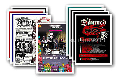 THE DAMNED - 10 promotional posters - collectable postcard set # 4