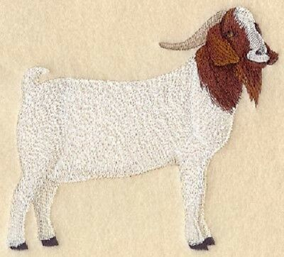Embroidered Long-Sleeved T-Shirt - Boer Goat A6652 Sizes S - XXL