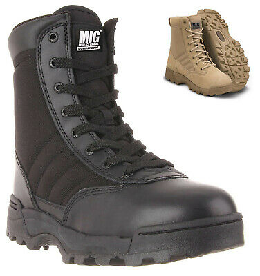 Mens Tactical Army & Combat Style Boots Size 6 to 12 UK SECURITY WORK BLACK 825