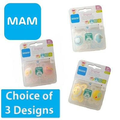 MAM Original - Soother Twin Pack - 0m+  (CHOICE OF DESIGN - BOYS/GIRLS) (A88)