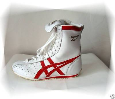 C - Chaussures Baskets Montants Blanc et Rouge Tiger Onitsuka Asics P 34.5