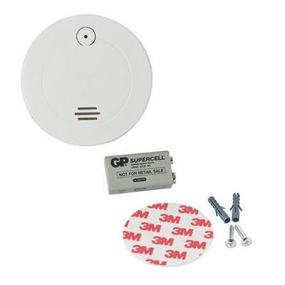 Smoke Detector Alarm with Battery Screws and Adhesive