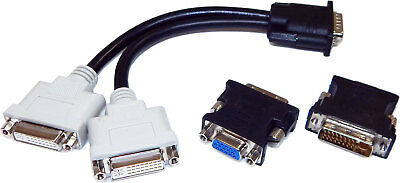 Molex DMS-60 to Dual VGA Cable NEW DMS-60-CABLE LFH60 to 2x15Pin VGA Cable