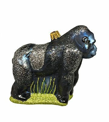 Gorilla Ape Monkey Polish Blown Glass Christmas Ornament  Tree Decoration