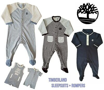 Baby Boys TIMBERLAND Babygrow Sleepsuit Romper All In One Designer RRP £18