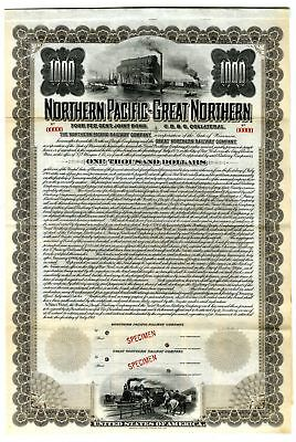 Northern Pacific-Great Northern, 1901 Specimen Bond