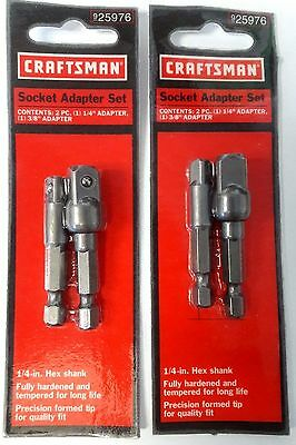 "Craftsman 25976 Socket Adapter Set 1/4"" & 3/8"" 2-2 Packs"