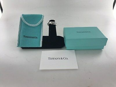 Sterling Silver 925 Tiffany Triple 3 Interlocking Rolling Band Ring; Box & Pouch
