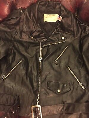 Schott Perfecto USA 44L 70's 418 Dee Dee Ramone Leather Jacket! Extremely Rare!