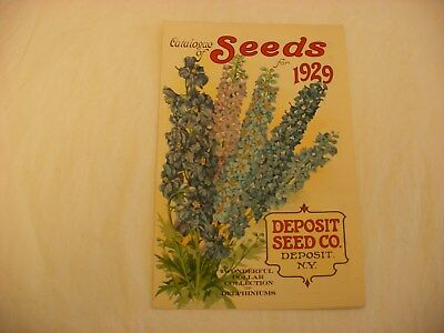 Vintage Seed Catalog - Deposit Seed Co. New York - 1929