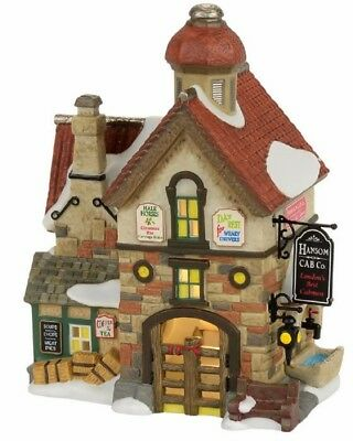 Department 56 Dickens Village The Hansom Cab Co Building Figurine 4056644 New
