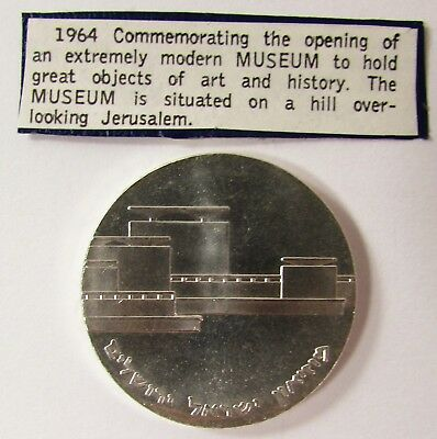 """1964 ISRAEL 5 LIROT PROOF SILVER COIN """"MUSEUM"""" 34mm - 25.0 grams"""
