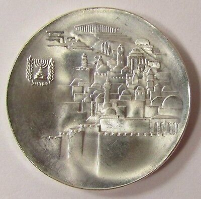"""1968 ISRAEL 10 LIROT PROOF SILVER COIN """"20th ANNIVERSARY OF INDEPENDENCE"""" 37mm"""