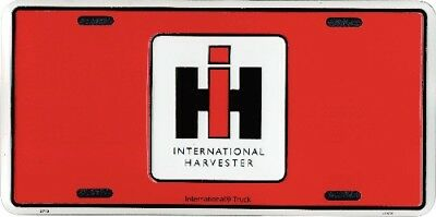 Red International Harvester Truck Aluminum Auto License Plate IH Tag Sign New