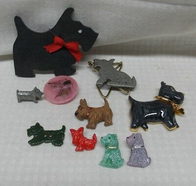 Scottish Terrier and Other Dogs Pins and Buttons