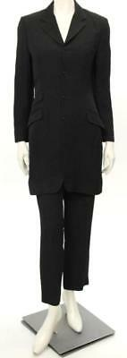 Ralph Lauren Collection 2pc Black Button Up Jacket & Pant Suit Size 8