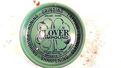 New Old Stock 2 Ounce Clover Compound #1-A Grinding Polishing Compound