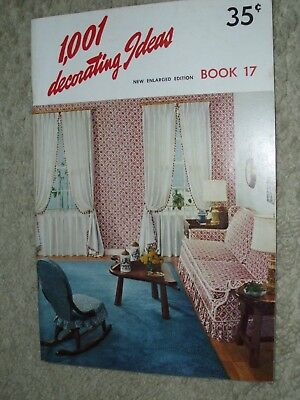 Vintage 1960 1,001 DECORATING IDEAS BOOK #17 Magazine Conso Home Furniture Decor