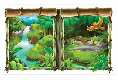 NEW Beistle 52319 Party Jungle Insta Window Prop View - 3 x 5FT
