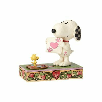 Jim Shore Peanuts Work of Heart Snoopy with Love Letter Figurine 4059431 New