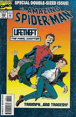 The Amazing Spider-Man No.388 / 1992 Special Blue Foil Cover / Mark Bagley