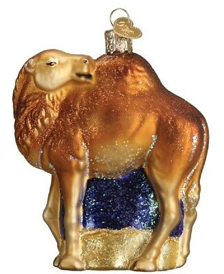 Old World Christmas Standing Camel Glass Tree Ornament 12499 FREE BOX Animal New