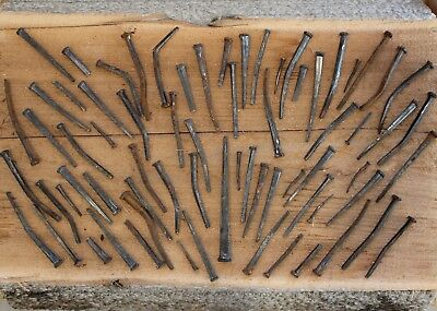 "Antique Square Nails Lot X 70 Largest 4"" Smallest 1.25"""