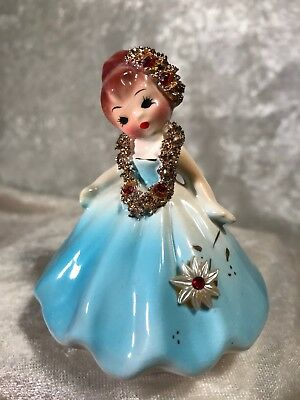 Vintage Josef Originals Girl With Lei Figurine